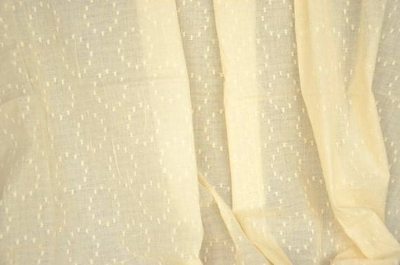 Items Similar To Fabric By The Bolt Cotton Sheer Curtain