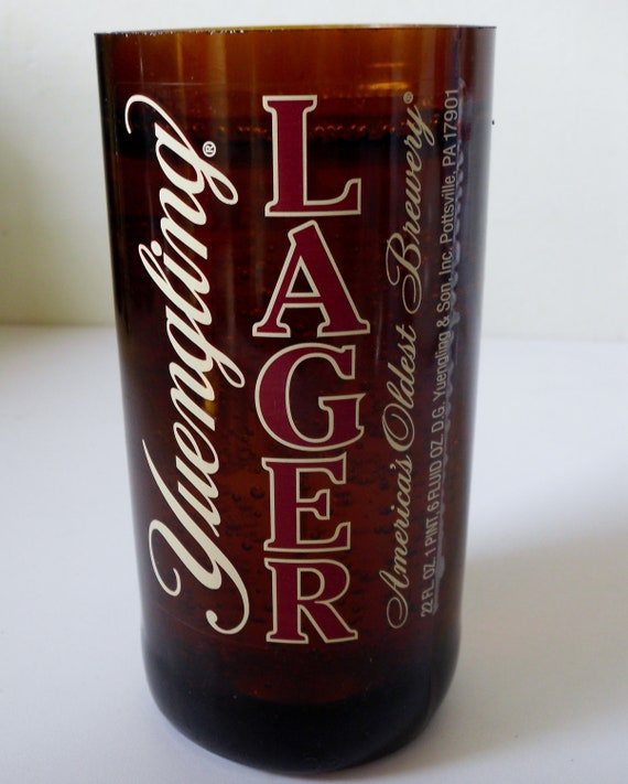 upcycled oversized Yuengling Lager beer bottle candle, MANCAVE MUST HAVE