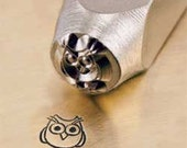 Hootie Owl Metal Design Stamp ... 6mm ... for Stamping, Jewelry, Key Chains, Scrapbooking, Wood, Clay, Leather, more....