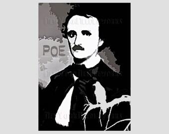 Poe Abstract Pattern, Edgar Allan Poe, Cross Stitch Pattern, Poe Cross Stitch, Abstract Pattern, Silhouettes from NewYorkNeedleworks on Etsy