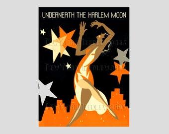 Art Deco Cross Stitch, Black Americana, Art Deco, Vintage Sheet Music, Vintage Pattern, Harlem, Cross Stitch from NewYorkNeedleworks on Etsy