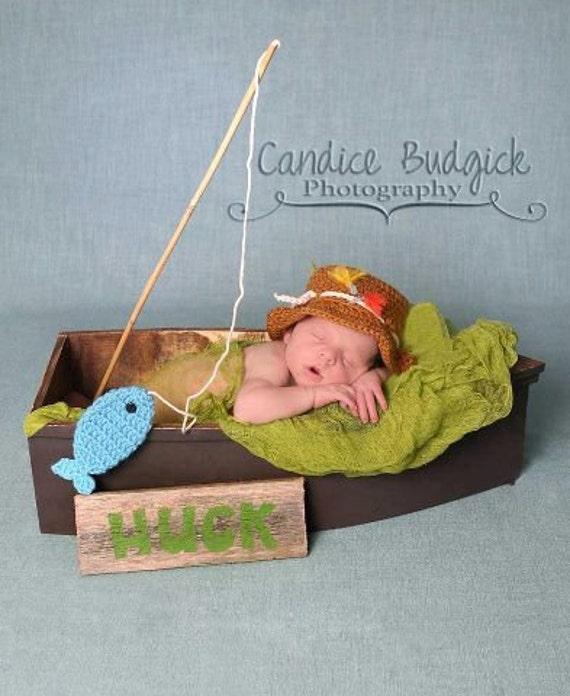 Newborn Fishing Hat Baby Boy Fisherman Hat And Fish Set