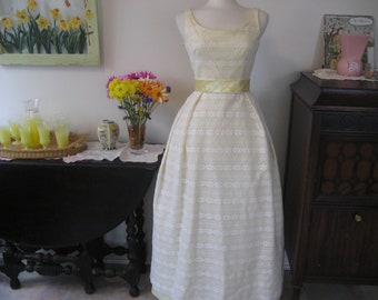 Yellow Lace Prom Dress