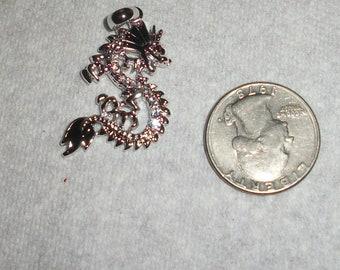 Black and Rhinestones dragon, sold each
