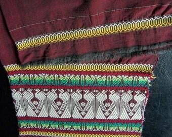Hand Woven Cotton Shawl, Geometric Pattern, Peacock Motif