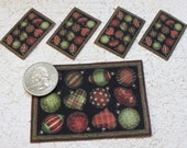 Dollhouse  Miniature Holiday Placemats and Rug in One Twelfth Scale