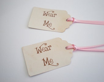 Favor Tags, Wear Me Tags, Alice In Wonderland