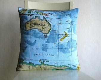 Australia Atlas Map 16 x 16 Cusion cover