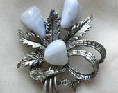 Vintage 1950s Lace Agate Scottish Brooch