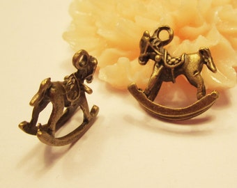 19pcs antique bronze hobbyhorse charm pendants--15x6x16mm