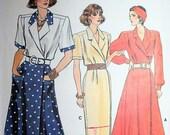 Vintage 1930s Inspired Wrap Dress Sewing Pattern Vogue 9874 Size 14 16 18 Bust 36 38 40 92 97 102 cm UNCUT