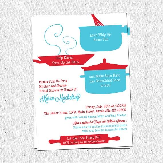 retro kitchen bridal shower invitation printable by ohcreativeone, Bridal shower invitations