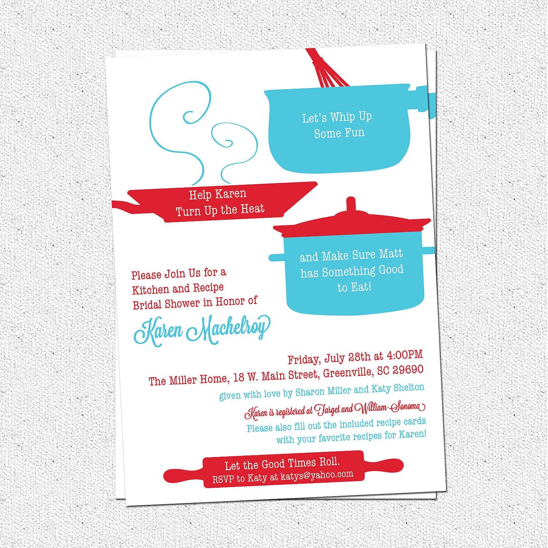 Retro Kitchen Bridal Shower Invitation Printable Theme