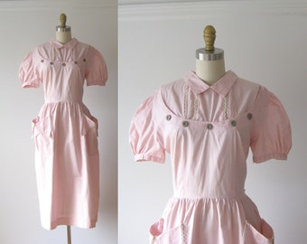 SALE vintage 1950s dress / 50s dress / Pink Cutie