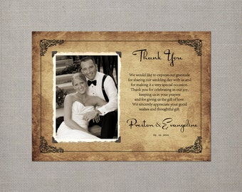 "Wedding Thank You  Magnets - the ""Evangeline"""