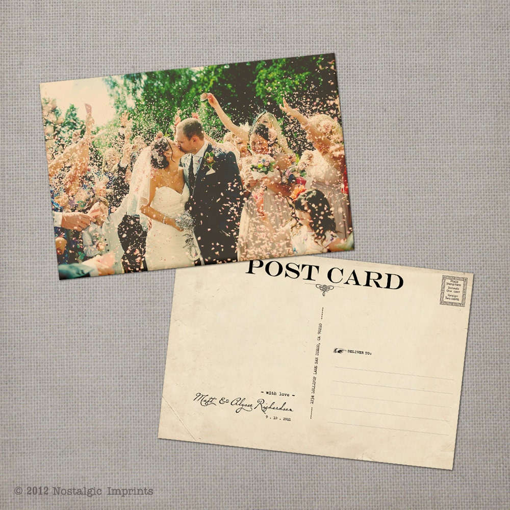 Wedding thank you cards thank you note cards vintage cards for Thank you cards for wedding
