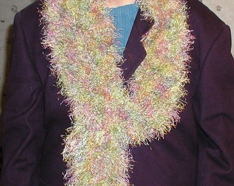 Multi-Colored Pastel Scarf - Skinny and Long