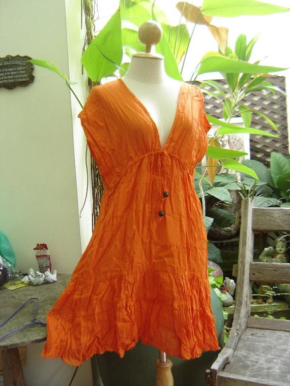 Lovely Cotton Tunic - Orange