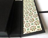 6x4 photography portfolio box - black with Florentine decorative paper