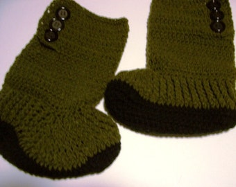 Hightop Fireside Slipper Boots for Adults & Teens Hand Crochet  by kams-store.com