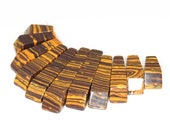 Stunning 11 pieces Tiger Eye arth yellow and Brown Stripe pendant bead Set J31B4189