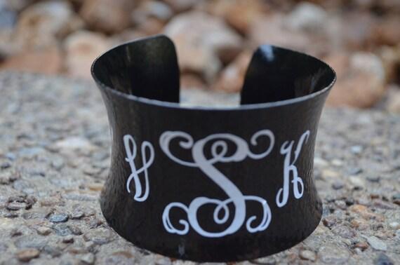 Personalized Monogram Cuff Bracelet