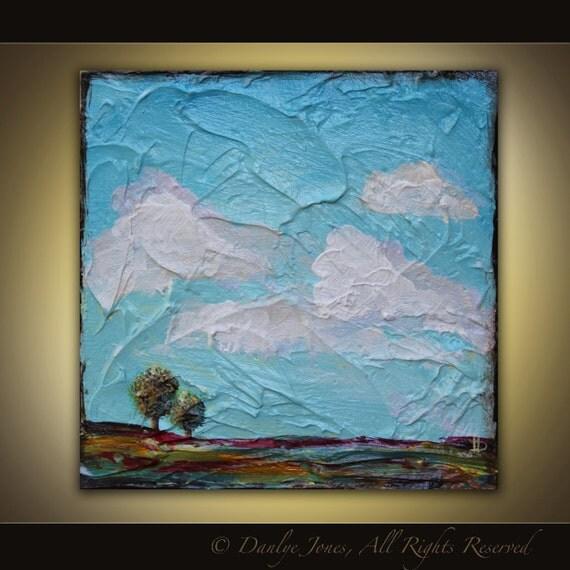 Landscape Tuscan Field Painting original acrylic on panel