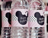 Minnie Mouse Party Water Bottle Labels - Printable