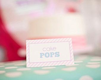DIY Printable Food Labels/ Tents - Girl Superhero Party