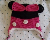 Crochet Minnie Mouse Inspired Hat MADE TO ORDER
