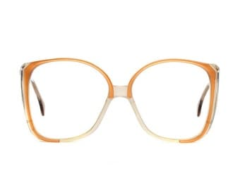 Big Orange Brown Transparent vintage Glasses - Atrio - Oversized Eyeglasses