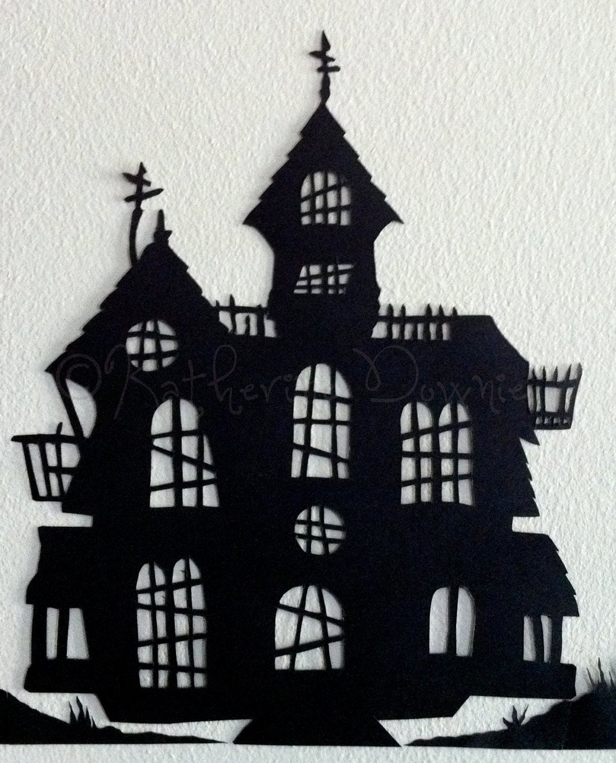 pin haunted house silhouette on pinterest. Black Bedroom Furniture Sets. Home Design Ideas
