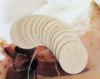 20PCS 45mm(1 3/4'') Beige Suede Kraft Circle for  Flower or Corsage Professional Finished.