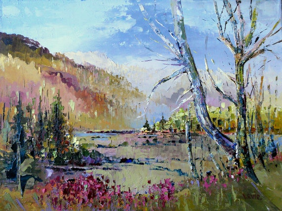 Paysage d'automne canadien peinture à par OilPaintingsByLevie