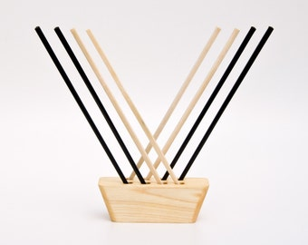 Chopstick Display Chopstick Holder Asian Table Decoration Natural Wood Centerpiece Little Lee