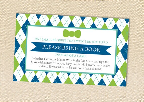 Baby Shower Book Cards - set of 12