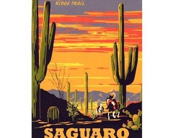 SAGUARO Arizona 1S- Handmade Leather Photo Album - Travel Art