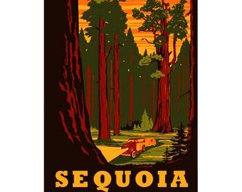 SEQUOIA California 2S- Handmade Leather Photo Album - Travel Art