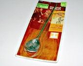 Vintage  Bar Spoon Stirrer Chrome Plated Irvinware Original Package Mad Men MCM