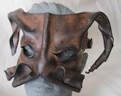 Leather devil mask