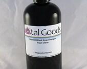 Dreadlock shampoo Neem Oil Black Soap Shampoo Fresh Citrus Blend 12oz (VEGAN)
