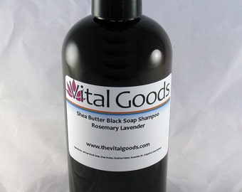 Dreadlock shampoo rosemary & lavender Shea Butter Black Soap Shampoo 12oz