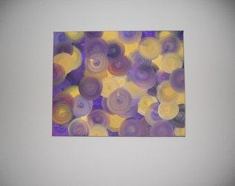 Purple and Gold Swirls