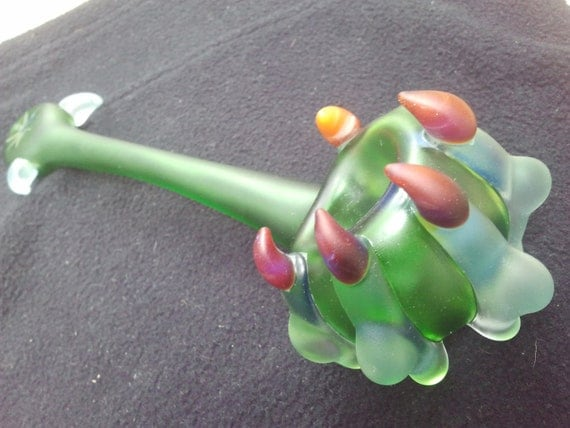 gandalf style claw glass heavy and long art tobacco pipe