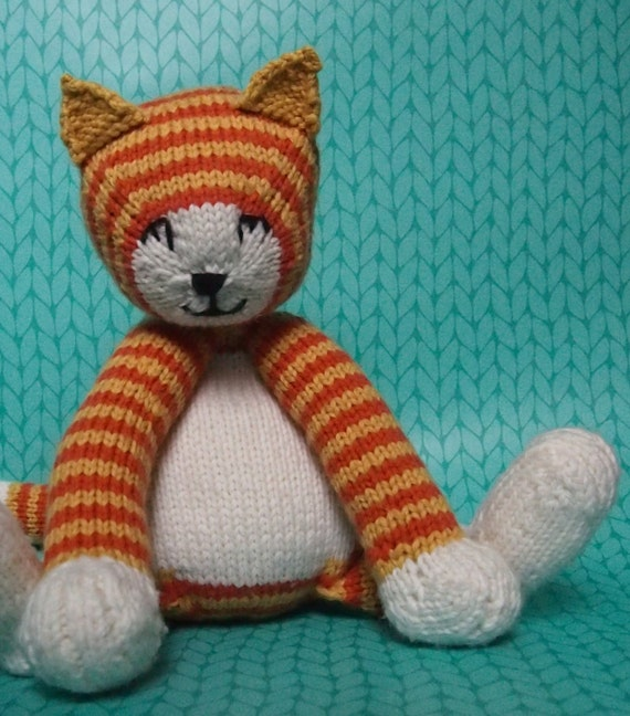 Items similar to Tubby Tabby - Toy cat knitting pattern on Etsy
