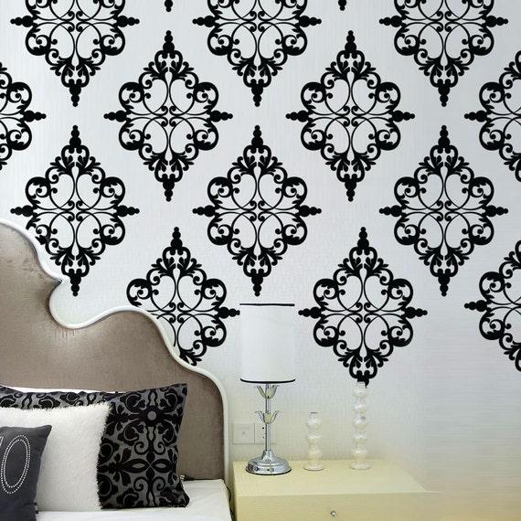 damask pattern 2 vinyl wall decal wall by wordybirdstudios damask 7 wall decal wall sticker