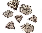 Temporary Tattoo Set - Diamonds and Coal - JollyGoodStudio