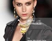 Pastel colors statement necklace