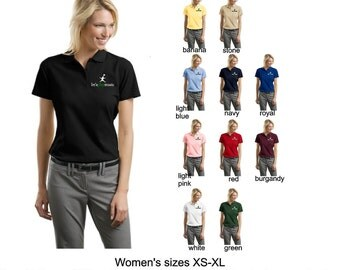 L510 lets play music short sleeve polo