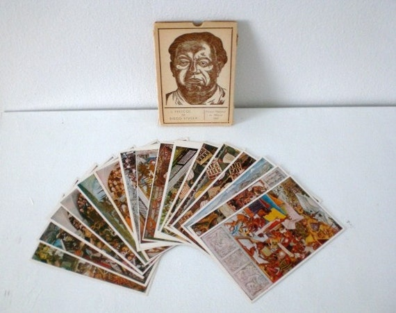 Vintage Diego Rivera Postcards 1947 Mexico Reserved